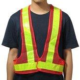 Chaleco reflectante naranja y amarillo de 2 piezas Equipo de seguridad de advertencia de alta visibilidad
