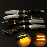 4pcs motocicleta LED pisca âmbar luminoso