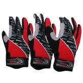 Red Motorrad Motor Bike Sport Gel Silikon Full Finger warme Handschuhe