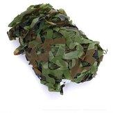 Rede de camuflagem da camuflagem da floresta de 2X1.5m para a fotografia militar de acampamento