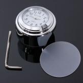 7/8 polegadas 1inch guidão da motocicleta universal montar relógio à prova d'água