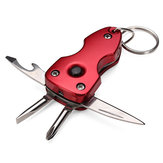 5in1 Multi-function Screwdriver Bottle Opener key chain Tools