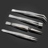 4 Pcs/Kit Mini Portable Silver White Different Shapes BGA Tweezers