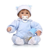 16 inch Reborn Baby DOLL Princess Dress Soft Silicone Realistic Doll Baby Handmade Newborn Dolls Toy