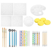 36Pcs Mandala Dotting Rock Painting Kit Dot Nail Art Pen Paint Stencil Tools Kit Hand Tool