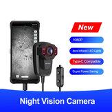 Ulefone 1080P HD Night Vision kamera 4PCS infravörös LED világítás Night Vision felvevő miniatűr videokamera