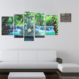 5PCS Boeddha Frameless Canvas Print Muurschildering Wall Picture Home Decoration