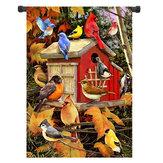 28x40 12.5x18 Inch Birdhouse Bem-vindo Fall House Garden Bandeira Quintal Banner Decorações