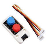 Mini Dual Push Button Switch Unit dengan GROVE Port Cable Connector Kompatibel dengan FIRE / M5GO ESP32 Micropython Kit M5Stack® untuk Arduino - produk yang bekerja dengan papan Arduino resmi