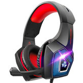 Hunterspider V1 Game Headset 3.5mm+USB Wired Bass Stereo RGB Gaming Headphone with Mic for Computer PC Gamer