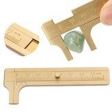 80mm Mini Brass Sliding Gauge Vernier Bead Wire Jewelry Measuring Pocket Caliper