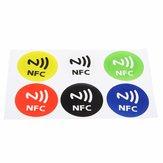6Pz Etichette NFC Impermeabile NTAG213 Chip RFID Adesive per Tutti NFC Mobile Telefoni