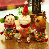 Christmas 2017 Candy Jar Santa Claus Snowman Elk Kids Christmas Gift Christmas Desktop Ornaments