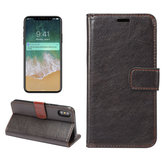 Bakeey Magnetic Flip Wallet Card Slot Kickstand Protective Case for iPhone X