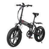 LAOTIE® FT5 20in dikke band 48V 10Ah 500W opvouwbare elektrische bromfiets 35 km / u Topsnelheid 80-90 km kilometerstand E-bike