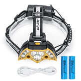 Elfeland 5000LM Headlamp with 18650 Batteries USB Rechargeable Camping Lamp Hunting Cycling Flashlight