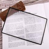 3-teilige Lupe Lesezeichenvergrößerung 180X120mm 3X flache PVC-Lupe Vergrößerung Leseglas Schreibwaren Lesezeichen Zubehör