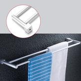 Banheiro Dupla Toalha Cremalheira Do Trilho 2 Bar Alumínio Do Espaço cabide Montado Na Parede Toalha Prateleira De Banho Trilhos Barras Titular