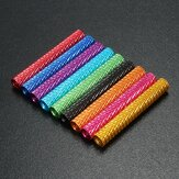 Suleve™ M3AS9 10Pcs M3 40mm Knurled Standoff Bolt Aluminum Alloy 6061 Anodized Spacer Multicolor
