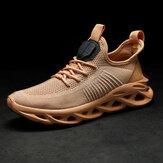 Мужская спортивная дышащая трикотажная ткань противоскользящая повседневная обувь для бега