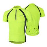Arsuxeo bicicleta montan en bicicleta ropa corta de las mangas de los deportes de verano mecha de secado rápido transpirable