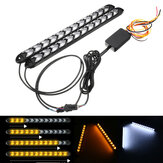 2pcs 12V 2835 Turnback Signal Headlight LED Strip DRL Light Tube Waterproof