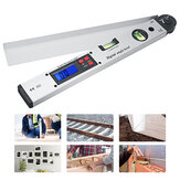 250/400mm Digital Angle Level Meter LCD Display 0-225 Degree for Measuring Roof Angles Fitting Up Windows or Doors Aligning Wood Forms