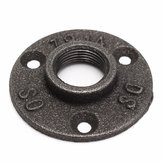 1/2 or 3/4 Inch Black Flange Iron Pipe Floor Fitting Plumbing Threaded Three Holes Flange