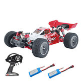 XLF F16 RTR mit zwei / drei Batterie 1/14 2.4G 4WD 60 km / h Metallfahrgestell RC Car Full Proportional Vehicles Model