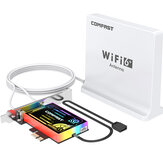 Comfast 3000Mbps WiFi 6 PCIe Card 160MHz Bluetooth 5.1 Dual Band Wireless Network Adapter 802.11ax WiFi Antenna Intel AX200