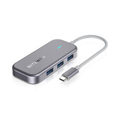 BlitzWolf® BW-TH10 Hub dati USB-C 6 in 1 6 porte Docking station USB 3.0 Convertitore adattatore di ricarica PD Type-C PD