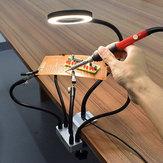 USB LED 3X Лупа Светильник для печатных плат Настольный тисок Зажим Пайка Рука помощи Пайка Станция Третья рука Инструмент с 5шт.