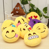 5.9 '' Emoticon Emoticon Emoticon de 15 centímetros de pelúcia de pelúcia de brinquedo macio Redonda Almofada Ornament Decor Gift