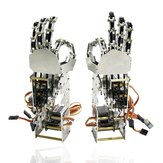 DIY 5DOF Robot Five Fingers Metal Manipulator Arm Left and Right Hand QDS-1601