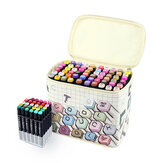 Touchcool Marker Pen Storage Bag Canvas Bag With Handle And Base 30/40/60/80 Holes Bag Shcool Office Stationery Storage Holder