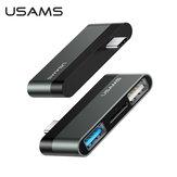Adaptador de hub USAMS USB-C com tela 4K HDMI HD / USB 3.0 / USB 2.0 / leitor de cartão TF
