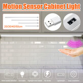20CM 30CM 40CM 50CM Movimiento inteligente de barrido manual USB Sensor LED Gabinete Luz Escaleras Armario Lámpara DC5V