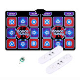 Wired Dancing Mat Pad Computer TV Slimming Dance Blanket with Two Somatosensory Gamepad a Colored Lights Button Glow Version