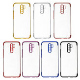 Bakeey for Xiaomi Redmi 9 Case Plating Shockproof Transparent Soft TPU Protective Case Back Cover with Lens Protector Non-original