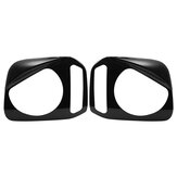 2PCS ABS Front Headlight Lamp Cover Trim Bezels For Suzuki Jimny 2007-2015 Black