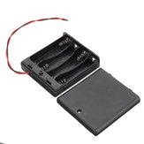 5шт 4 слота AA Батарея Коробка Батарея Держатель платы с переключателем для 4xAA Аккумуляторы DIY комплект Чехол