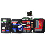 First Aid Kit Bag 255-Piece Lightweight Emergency Medical Rescue Outdoors Car Luggage School Hiking Survival Kits