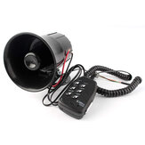 12V 100W 6 Sound Loud Car Warning Alarm Police Fire Siren Air Horn PA Speaker