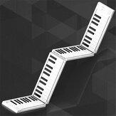 Fodable Piano 88 toetsen Opvouwbaar toetsenbord Piano-ondersteuning Hoofdtelefoonuitgang Draagbare handgerolde piano voor beginnende studenten