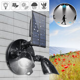 6 LED Solar PIR Bewegingssensor Flood Spot Light Wall Garden Rotating