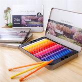 Deli 24/36/48/72 couleurs ensemble de crayons bois couleur huileuse ensemble de plomb papeterie croquis peinture pour fournitures scolaires