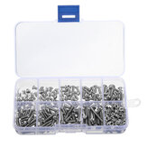 Suleve ™ M3SS1 M3 Stainless Hex Socket Tombol Kepala Sekrup Allen baut Mur Assortment Kit 340 pcs