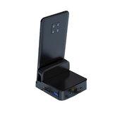 Biaze R42 Type-C Dock de téléphone portable vers USB HD Base de bureau séparateur d'affichage de carte mémoire pour Huawei Glory téléphones Android