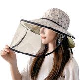 Chapeau de protection réversible pour visage intégral pour femmes, étanche, anti-gouttelettes, chapeau anti-éclaboussures