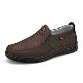 الرجال مريح يمكن ارتداؤها تنفس القماش مرونة الانزلاق على أحذية المشي عارضة